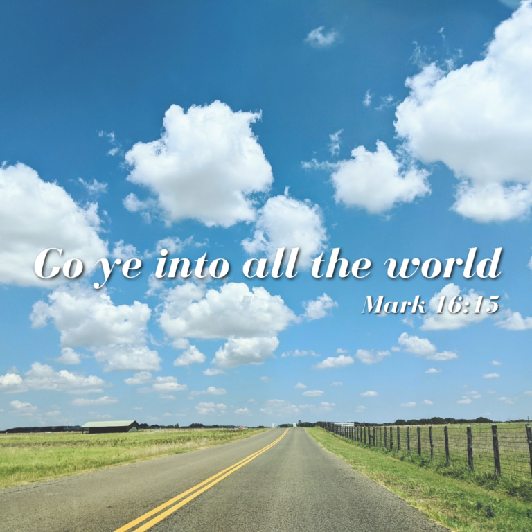 Go ye into all the world