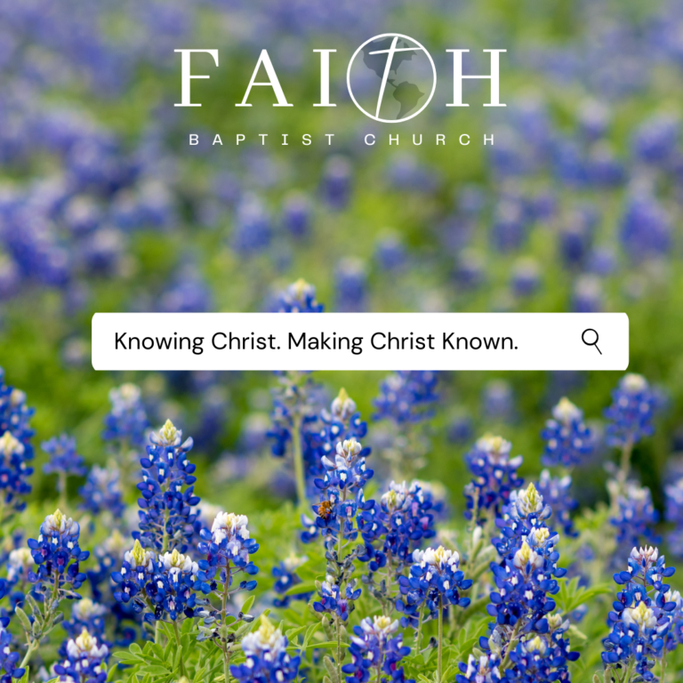Knowing Christ. Making Him Known.
